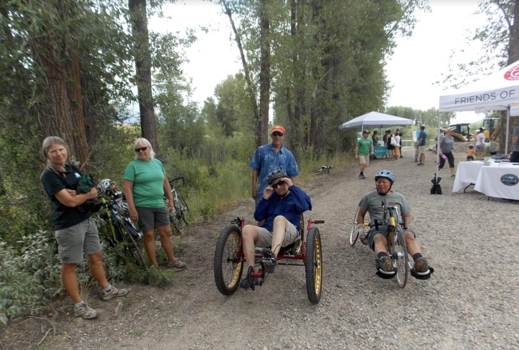 adaptive athletes and volunteers