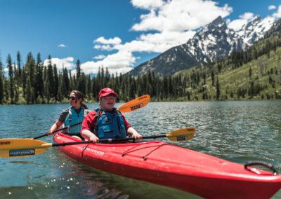 tandem kayaking with a view adaptive paddling