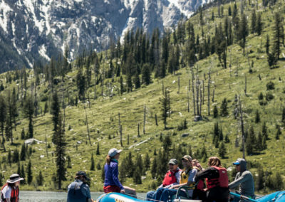 rafting in the tetons