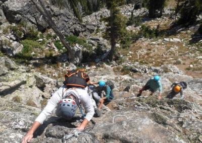 veterans climb the via ferrata
