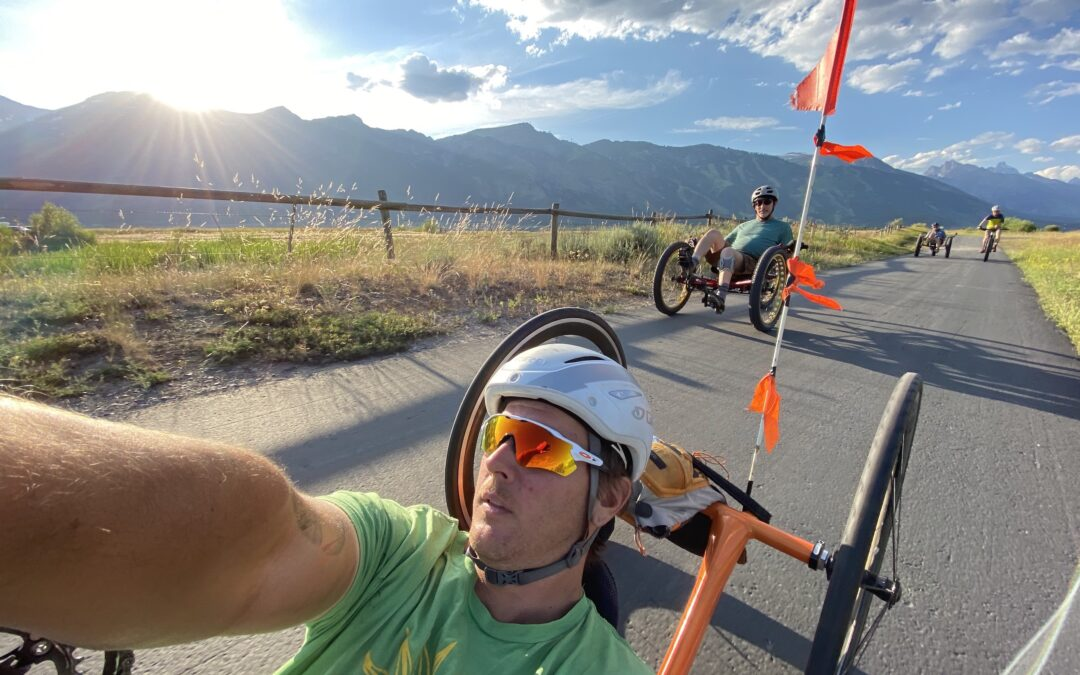 Joe Stone leads a ride on Teton pathways