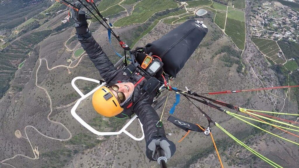 Joe Stone paragliding