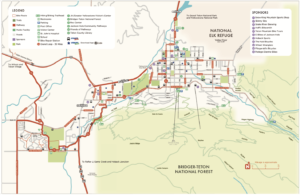 Adaptive road cycling in Jackson Hole Map from Friends of Pathways